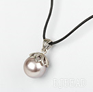 Classic Design Round Shape 16mm Purple Seashell Pendant Necklace under $2.5