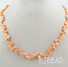 Classic Design Orange Color Freshwater Pearl Necklace