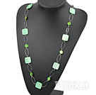 fahsion long style party jewerly green shell necklace