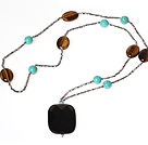 Classic Design Faceted Opal Crystal Graduated Beaded Necklace with Moonlight Clasp
