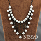 fashion jewelry exquisite 10mm round white sea shell necklace
