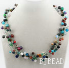 Assorted Multi Color Multi Stone Necklace
