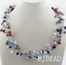 Assorted Multi Color Multi Crystal Necklace