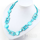 fashion style blue pearl and shell necklace