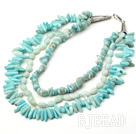 three strand amazon stone necklace with lobster clasp under $30
