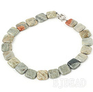 4*18mm Africa stone necklace with spring ring clasp under $ 40