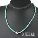 17.5 inches flat round turquoise necklace under $ 40