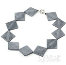 30*40mm grinding stone necklace with moonlight clasp