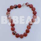 17.5 inches 20mm red gem necklace