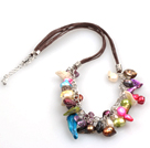 New Arrival Multi Color Teeth Shape Pearl Necklace with Lobster Clasp