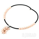 7-9mm pink pearl necklace