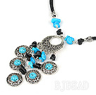 peacock jewelry gate turquoise necklace with extendable chain under $ 40