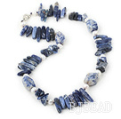 18 inches pealr and sodalite necklace with lobster clasp