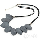 20*25mm grinding stone necklace with lobster clasp