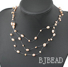 fancy natural fresh water pearl necklace with lobster clasp