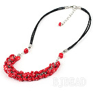popular 6-7 red coral necklace with extendable chain