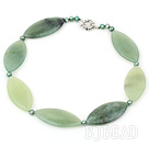 green pearl and serpentine jade necklace with moonlight clasp under $ 40
