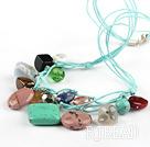 17.5 inches multi color stone necklace