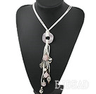 19.5 inches pearl and rose quartz necklace with lobster clasp