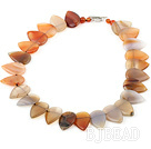 17.5 inches agate necklace with heart shaped toggle clasp