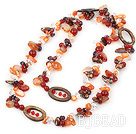43 inches crystal shell and agate long style necklace under $30