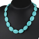 18*20mm turquoise necklace with spring ring clasp