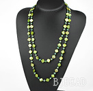 51 inches dark green pearl shell logn style necklace