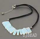 6*20mm opal necklace with extendable chain