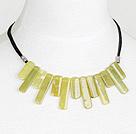 fashion olive stone necklace