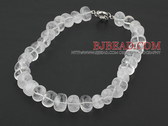 12*16mm clear crystal necklace with moonlight clasp