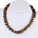 17 inches tiger's eye necklace with toggle clasp