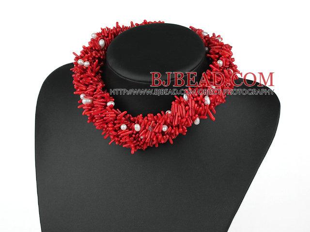 and red coral verdadeira pà rola e coral vermelho necklace colar