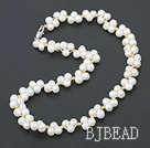 6-7mm natural fresh water white pearl necklace