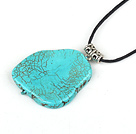 simple and fashion turquoise necklace with extendable chain