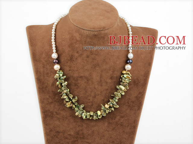17 inches renewable pearl necklace with lobster clasp