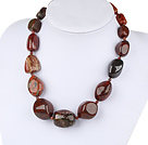 17 inches 12*25mm red jasper necklace