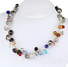 seven colored crystal necklace with moonlight clasp under $ 40