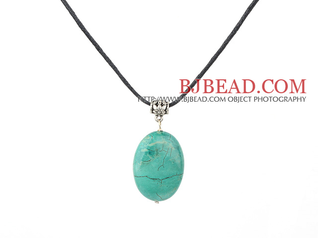 oval turquoise pendant with extendable chain