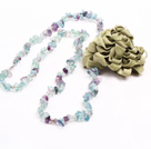 heart colored glaze neckalce with ribbon extendable chain