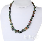 17.5 inches India agate necklace