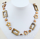 27.5 inches fashion pearl shell long style necklace under $ 40