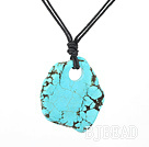 17.5 inches simple turquoise pendant necklace with lobster clasp under $ 40