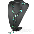 green pearl shell long style necklace