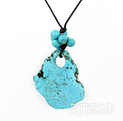 blue turquoise pendant necklace under $ 40