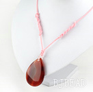 17.5 inches  natural agate dropped shape pendant with lobster clasp