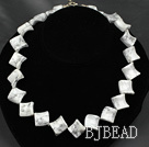 17.5 inches 20mm howlite necklace with toggle clasp under $ 40