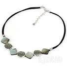 17.5 inches black lip shell necklace with lobster clasp under $ 40