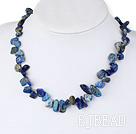 18 inches single strand lapis necklace