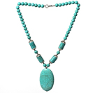 17.5 inches 24mm serpentine agate necklace