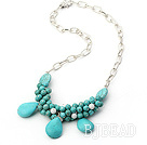 fashion turquoise necklace under $ 40
